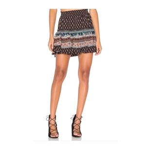 MISA Marion Skirt in Black Jewel